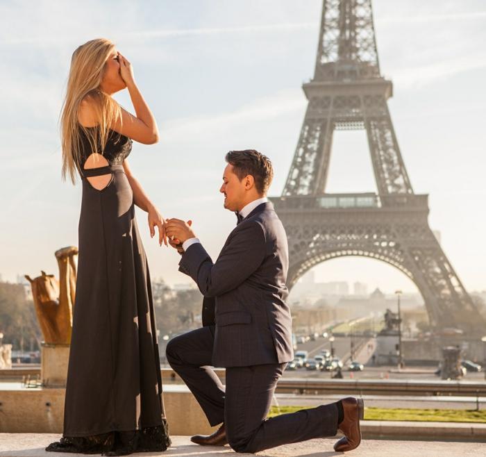 paris demande en mariage devant la tour eiffel