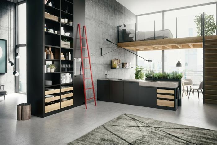 petite cuisine dans un studio
