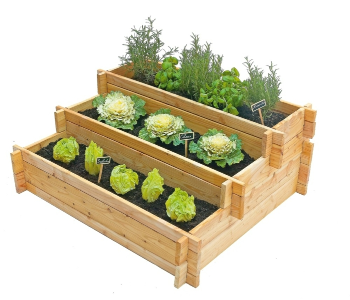 Comment bricoler un potager en palette instructions - Bac potager a etage ...