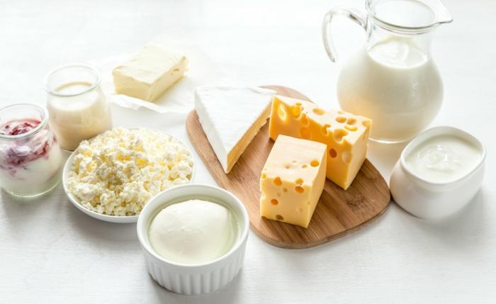 différents produits de lait