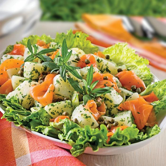 Salade de sarriette et pommes de terre