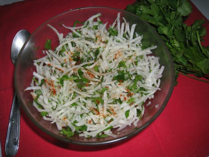 salade de radis noir