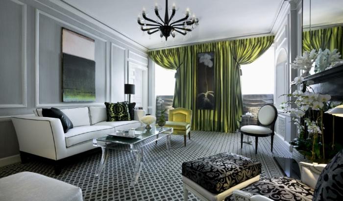 effect aristocratique - gris et vert en combinaison