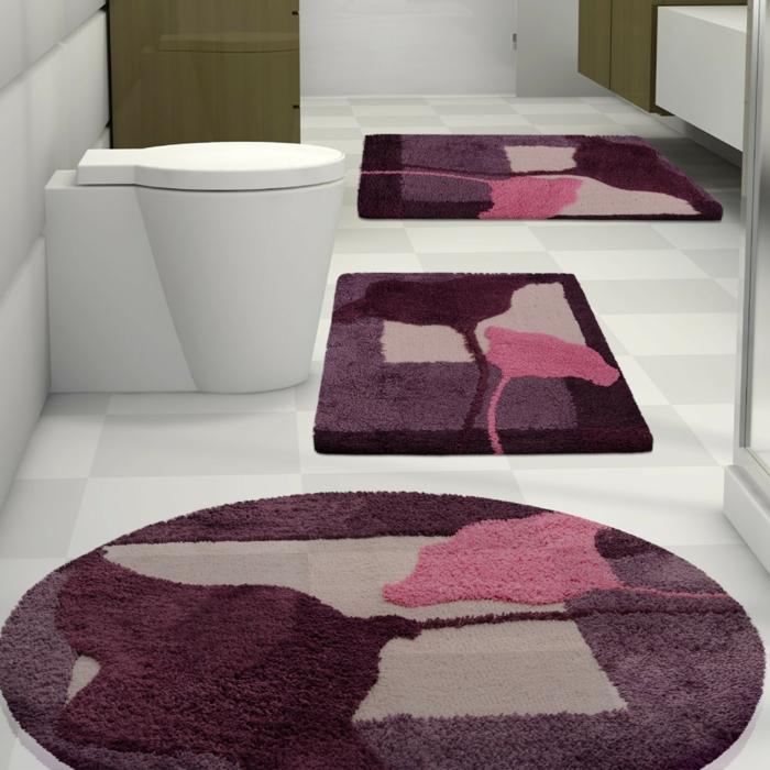 salle de bain tapis