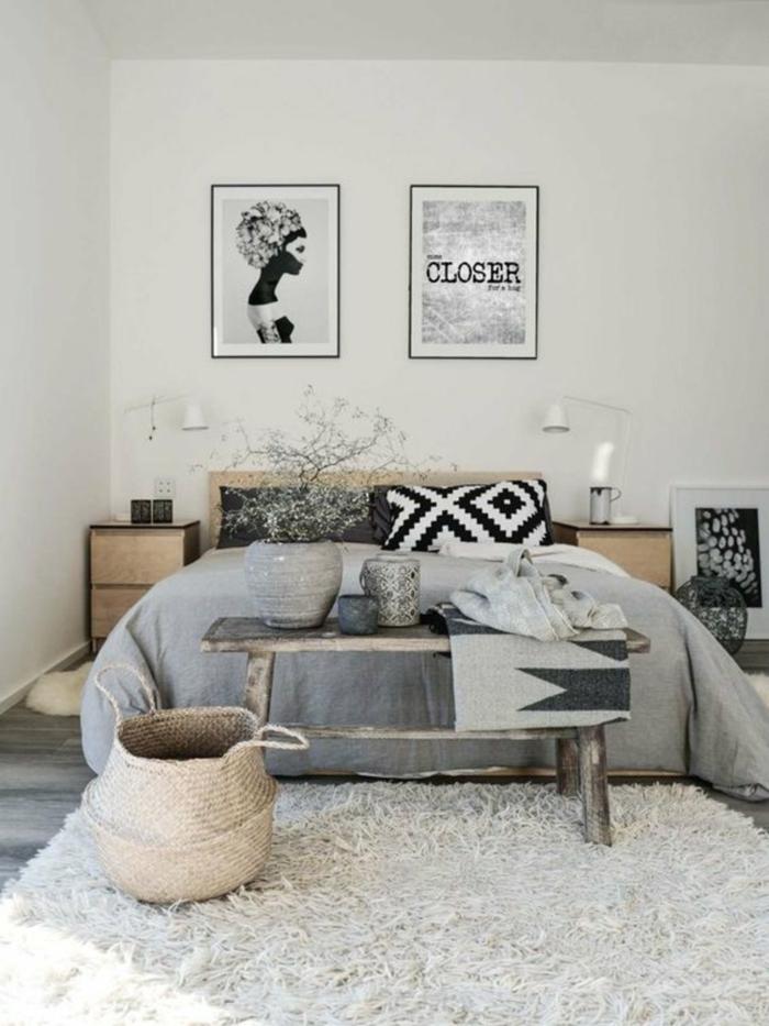 tapis shaggy à la chamre à coucher