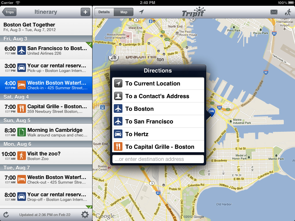 tripit maps super outil d'info