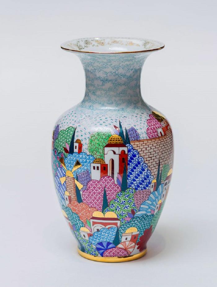 peinture sur un vase