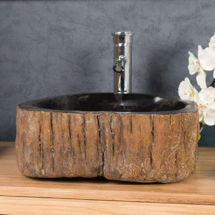 vasque en pierre imitation de bois
