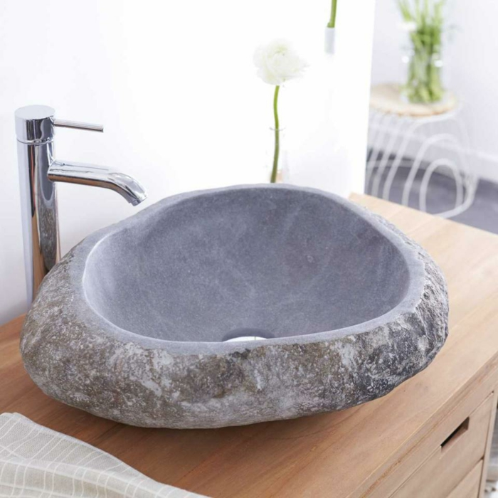 vasque en pierre rivière