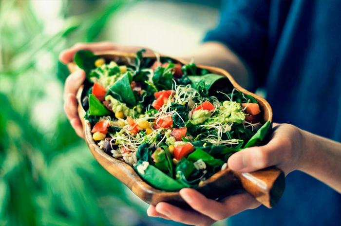 nourriture du menu vegan