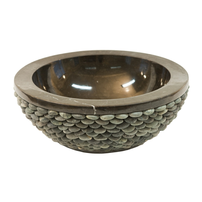 par exemple c'est une vasque à poser en pierre naturelle