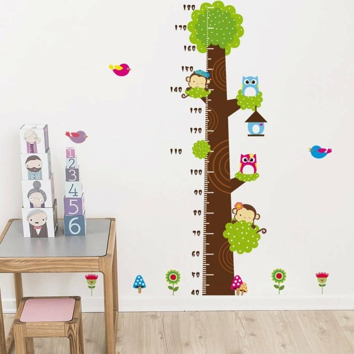 décorer la chambre avec sticker arbre toise