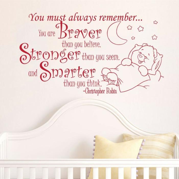 puisque les stickers chambre bébé en citation sont très actuels
