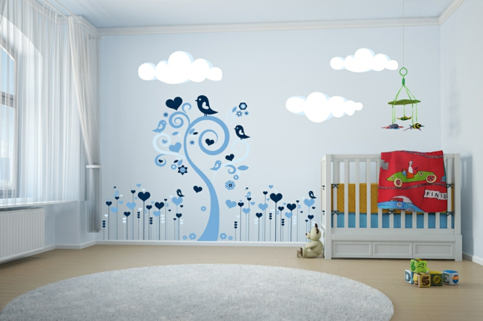 Stickers chambre b b comment habiller les murs - Stickers repositionnables chambre bebe ...