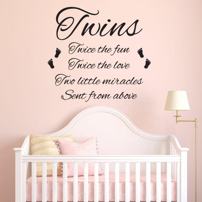 stickers citation pour la chambre jumeaux