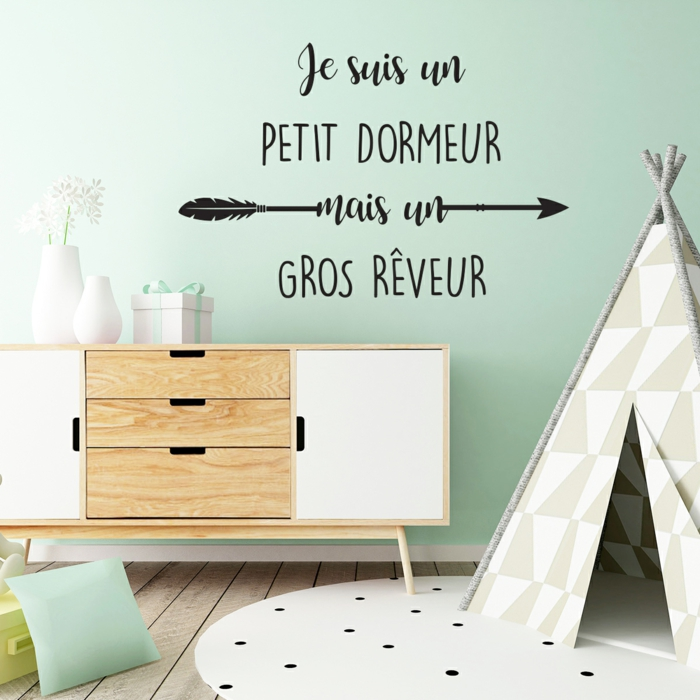 stickers chambre enfant citation