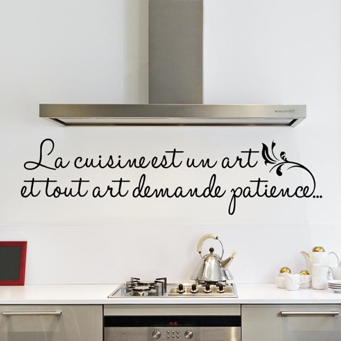 stickers pour la cuisine une citation la cuisine est un art