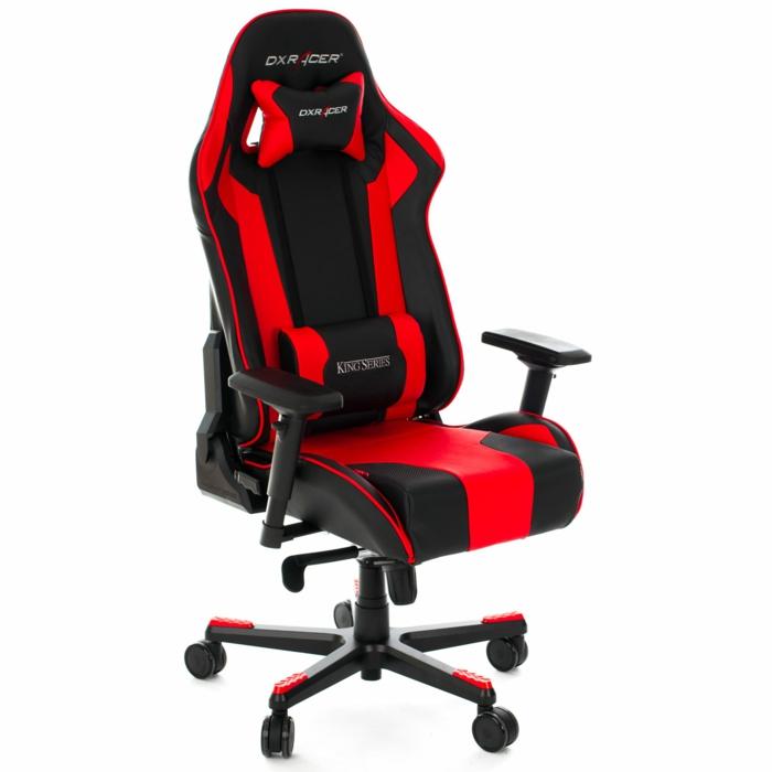fauteuil de bureau gamer en rouge et noir