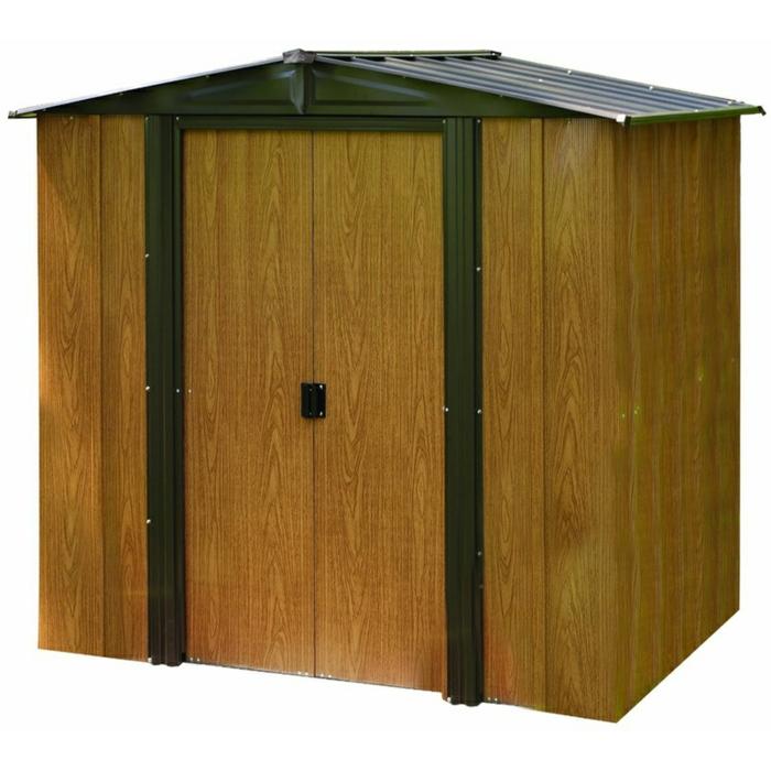par exemple c'est un abri de jardin acier galvanisé marron