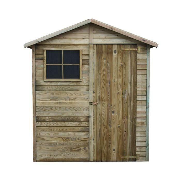 par exemple c'est un abri de jardin en bois modèle léa