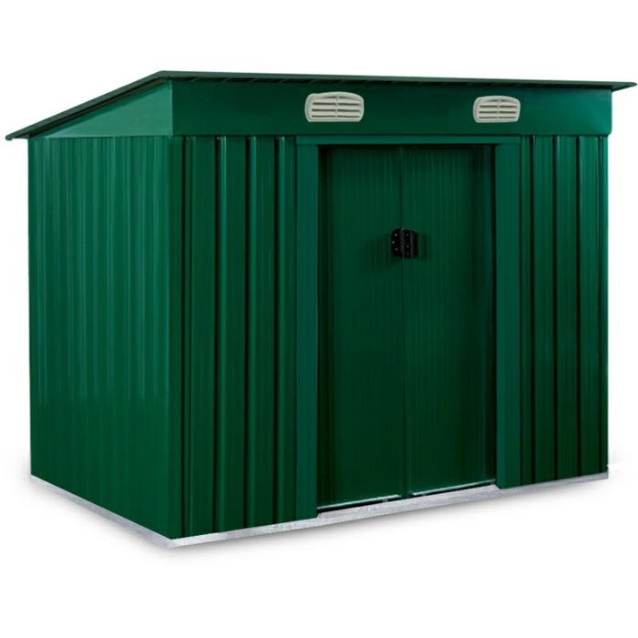 par exemple c'est un abri de jardin médium en métal galvanisé