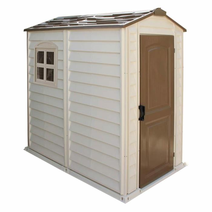 par exemple c'est une cabane de jardin en pvc
