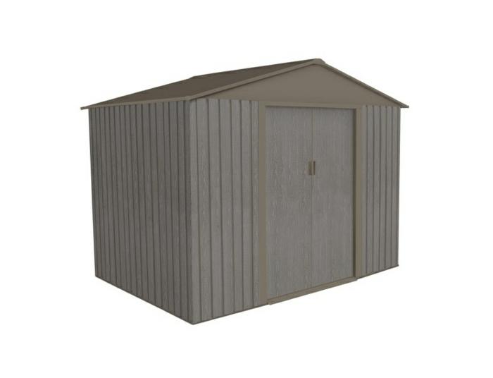 par exemple c'est un abri en métal aspect bois vieilli