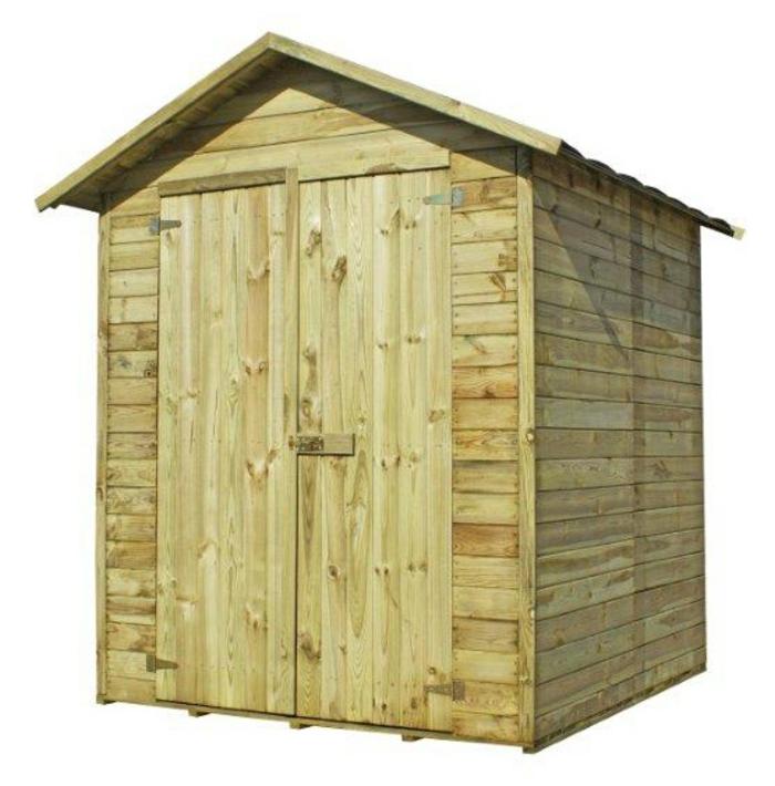 abri de bois traité avec plancher