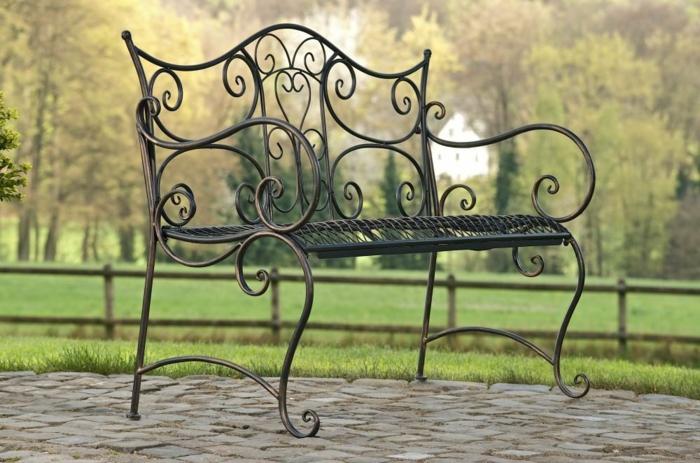 banc de jardin rustique