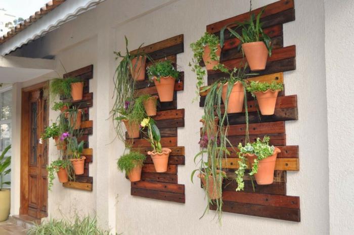 30 id es de superbe mur v g tal en palette pour votre for Mur vegetal suspendu