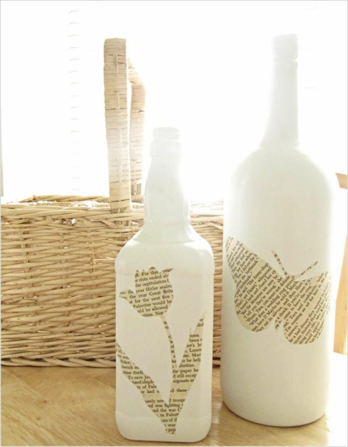 papier pour transfomer une bouteille en verre