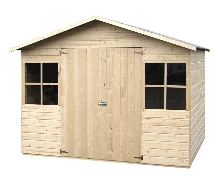 par exemple c'est un abri en bois brut