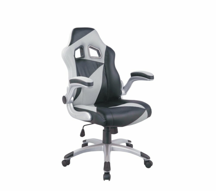 fauteuil bureau gamer en gris