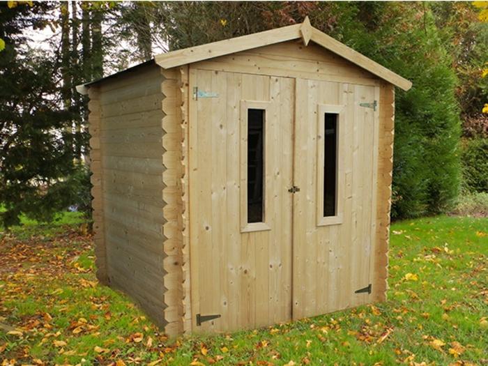 par exemple c'est un chalet en bois et toit polypropylène