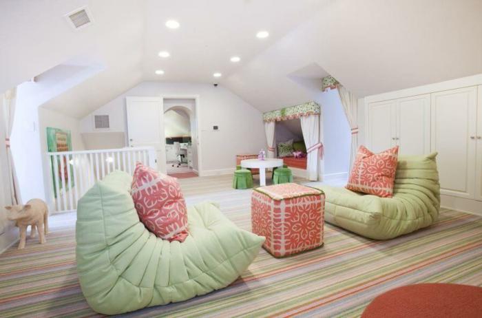 par exemple c'est une chambre d'enfant au style scandinave