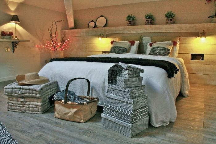 par exemple c'est une chambre à coucher style scandinave
