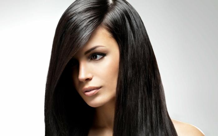 shampoing naturel é la maison cheveux long une femme