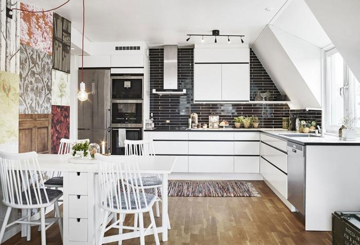 par exemple c'est une cuisine avec intérieur scandinave
