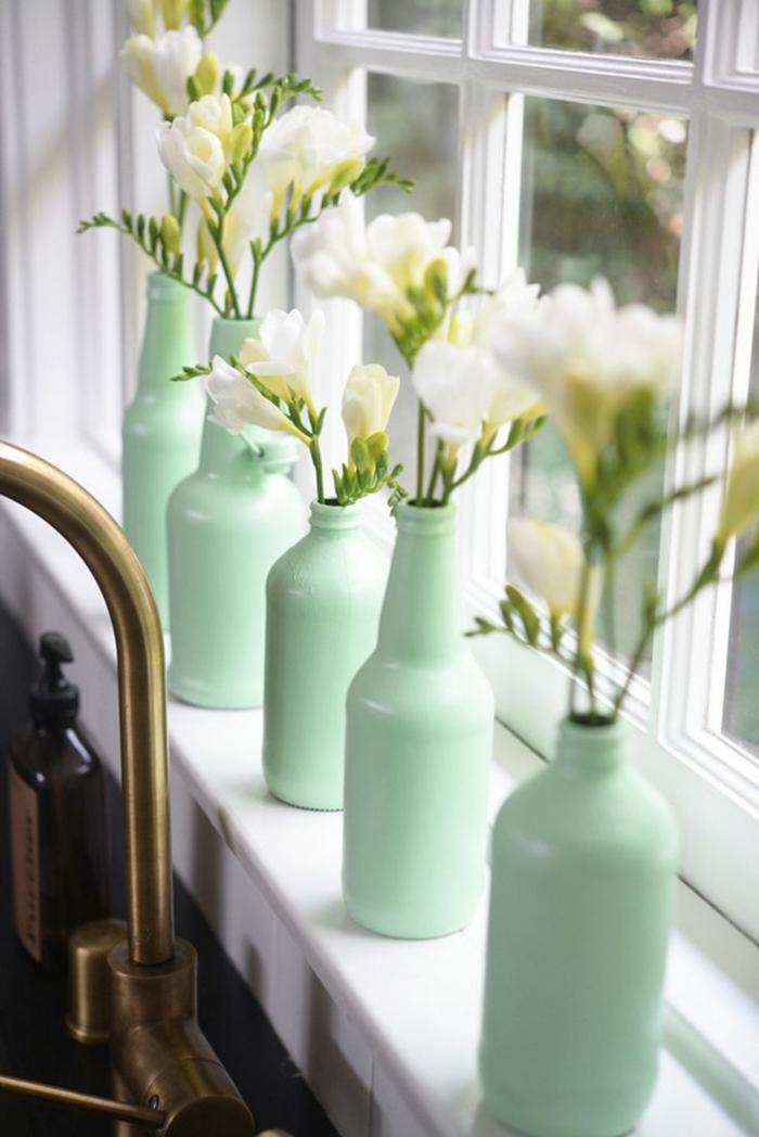 une bouteille comme décoration à la maison