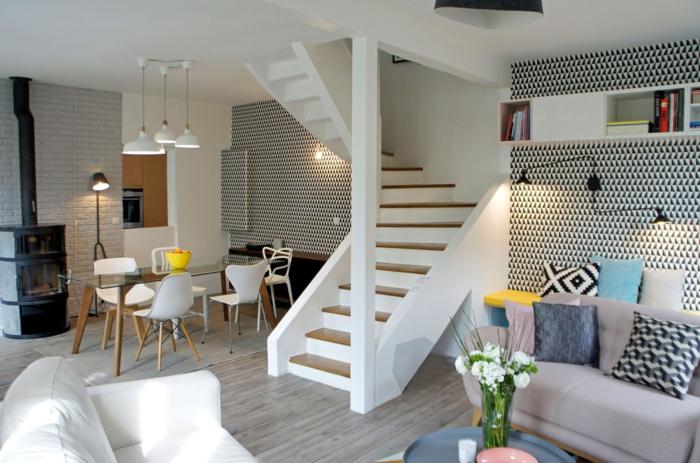 décoration scandinave dans un salon en beige et taupe