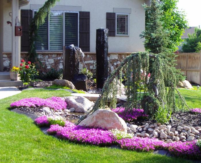 exemple de rangement feng shui dans un jardin