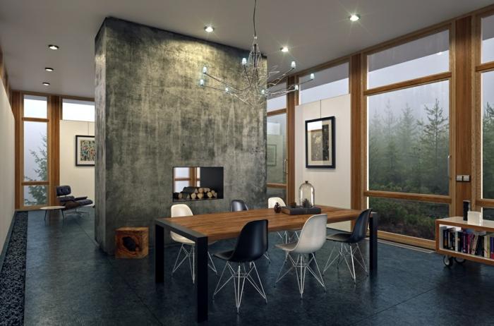 par exemple c'est un intérieur nordique avec un sol en marbre