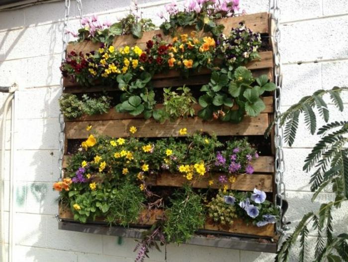jardin en palette de bois