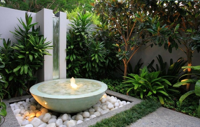 jardin rangé d'apres les directives de feng shui