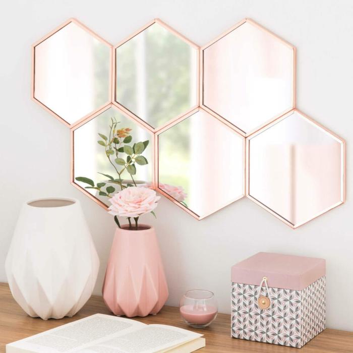 évidemment c'est beau ce miroir en cuivre rose