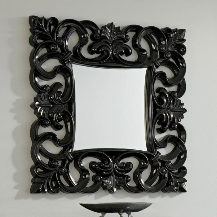 miroir mural en carré