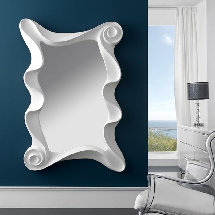 miroir mural laque blanc