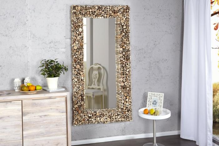 miroir mural en forme rectangulaire design marrocain