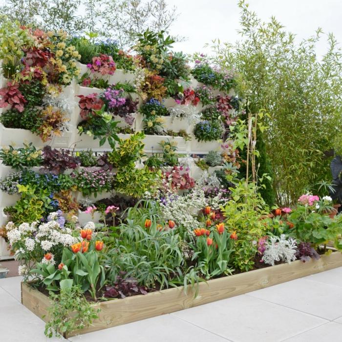 mur végétal en bois palette