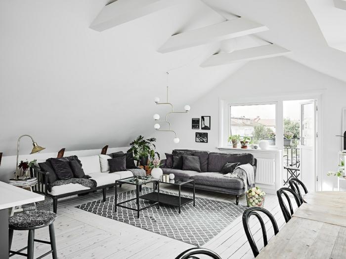 noir et blanc dans le style scandinave